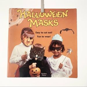 Vintage Halloween mask activity book